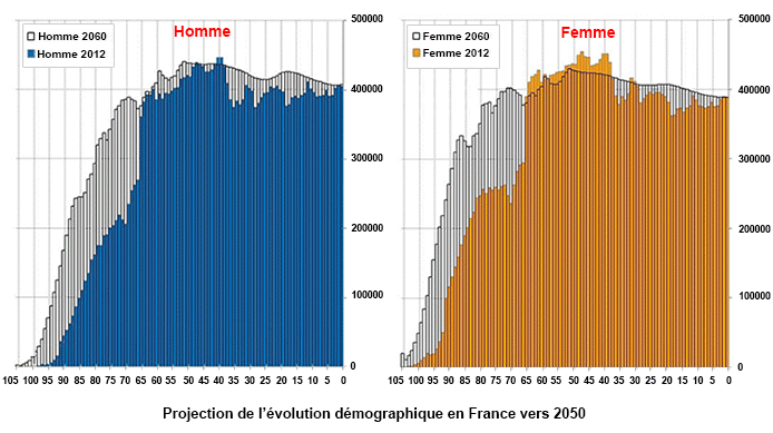 Evolution de la proportion des plus de 60 ans
